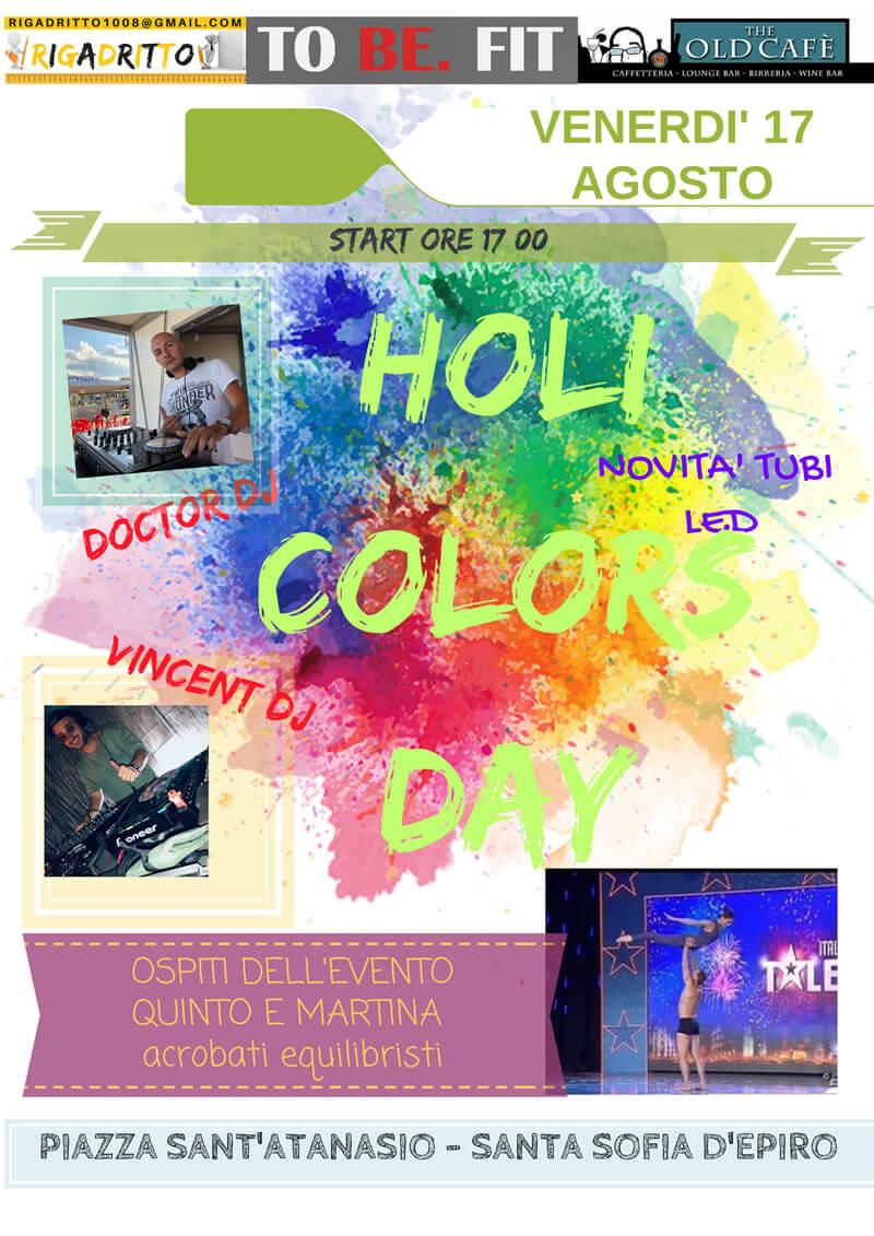 Holi colors day 17 agosto 2018 a Santa Sofia D Epiro locandina