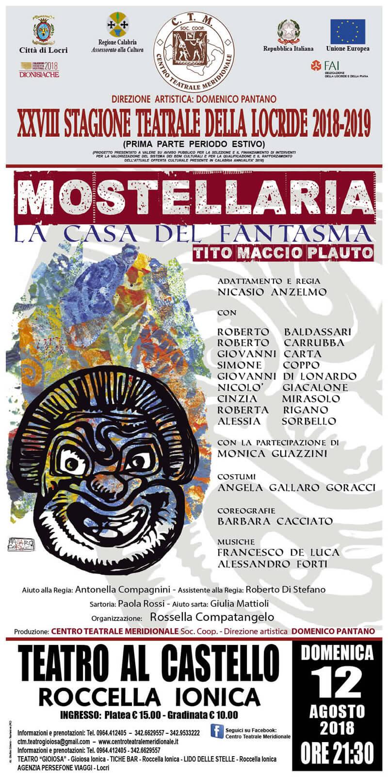 MOSTELLARIA 12 agosto 2018 a Roccella Ionica locandina