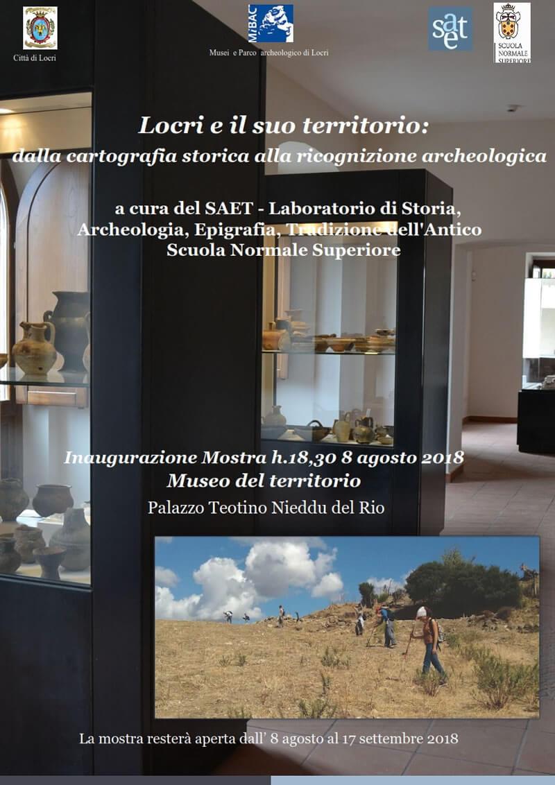 Mostra Locri e il suo territorio 8 agosto - 17 settembre 2018 a Locri locandina