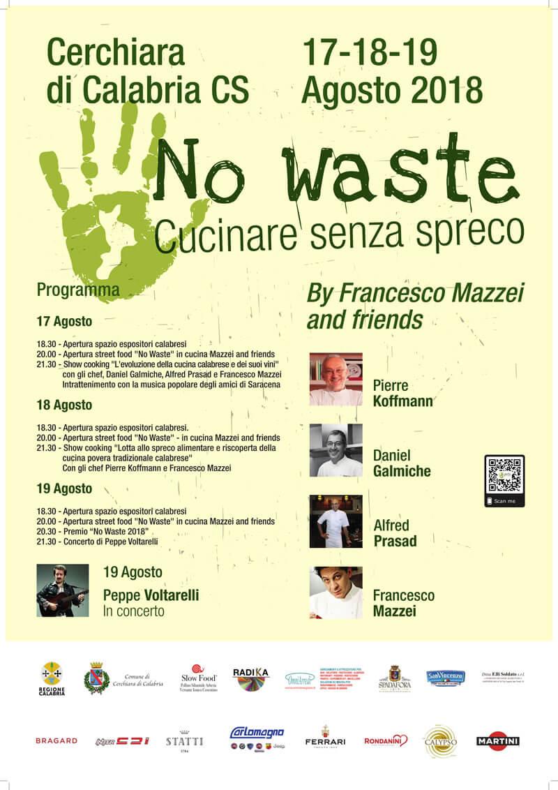 No Waste Festival 17 - 18 - 19 Agosto 2018 a Cerchiara di Calabria locandina