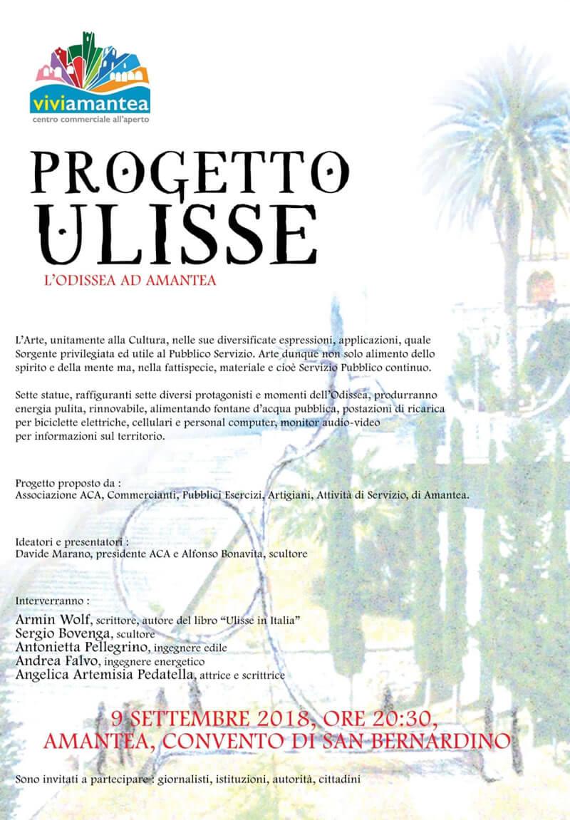 Progetto ULISSE 9 settembre 2018 Amantea locandina