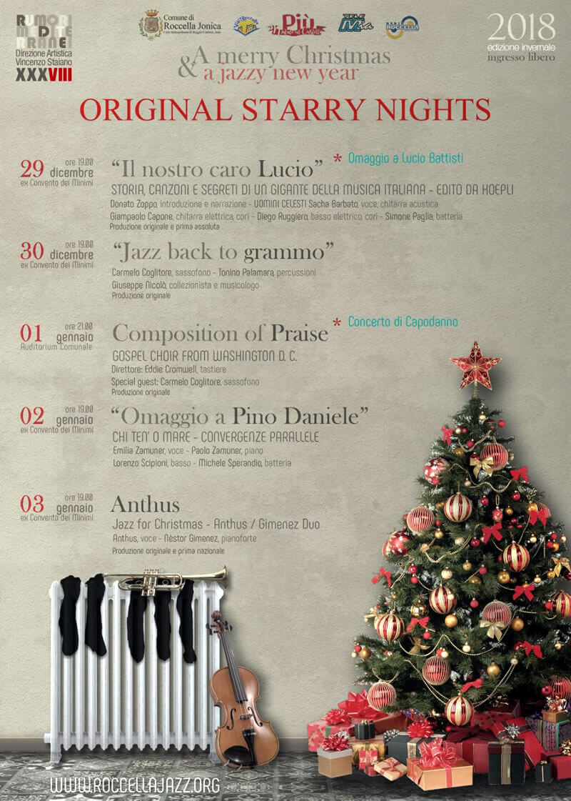 Rassegna invernale Roccella Jazz 2018-2019 Original starry nights