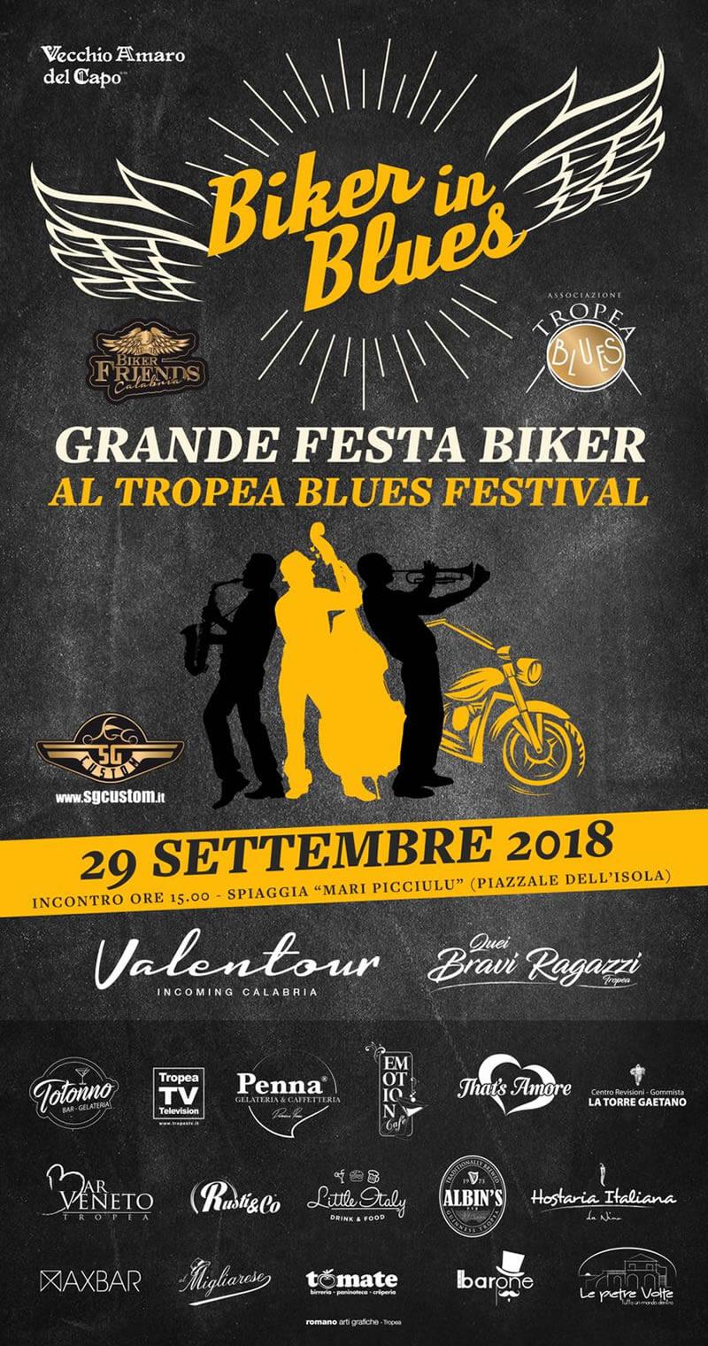 Biker in Blues 29 settembre 2018 a Tropea locandina