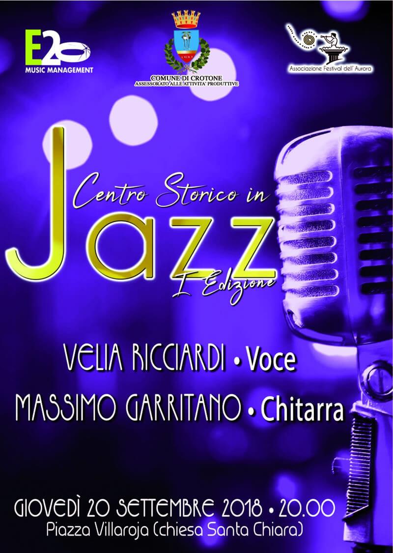 Centro Storico in Jazz 20 settembre 2018 a Crotone locandina