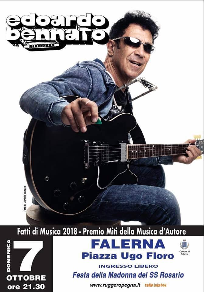 Edoardo Bennato a Falerna 7 ottobre 2018 locandina