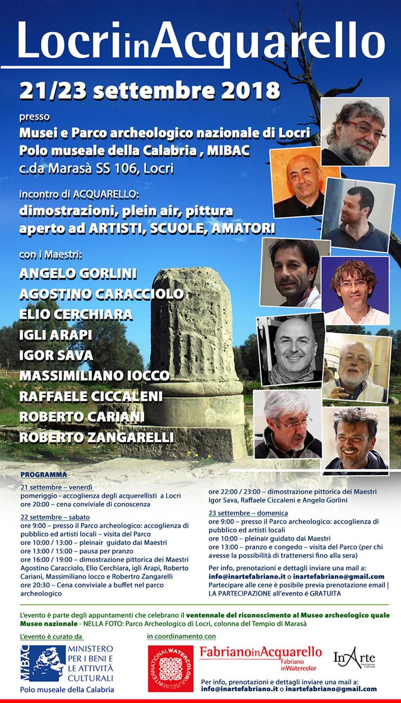 Locri in acquarello 21-23 settembre 2018 a Locri locandina