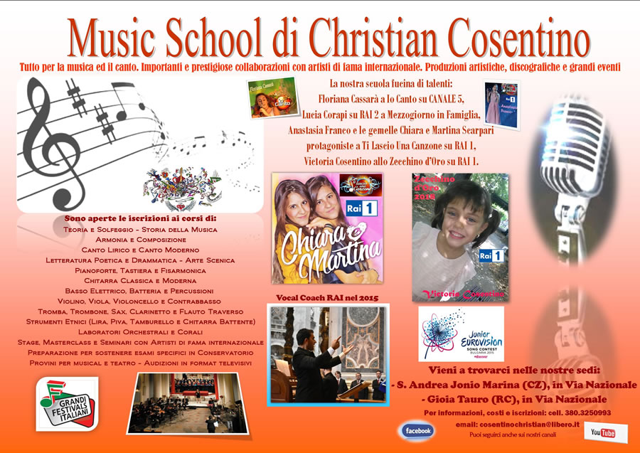 Music School di Christian Cosentino 2018