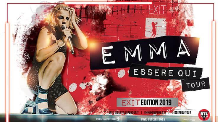 Emma Essere qui tour 2019