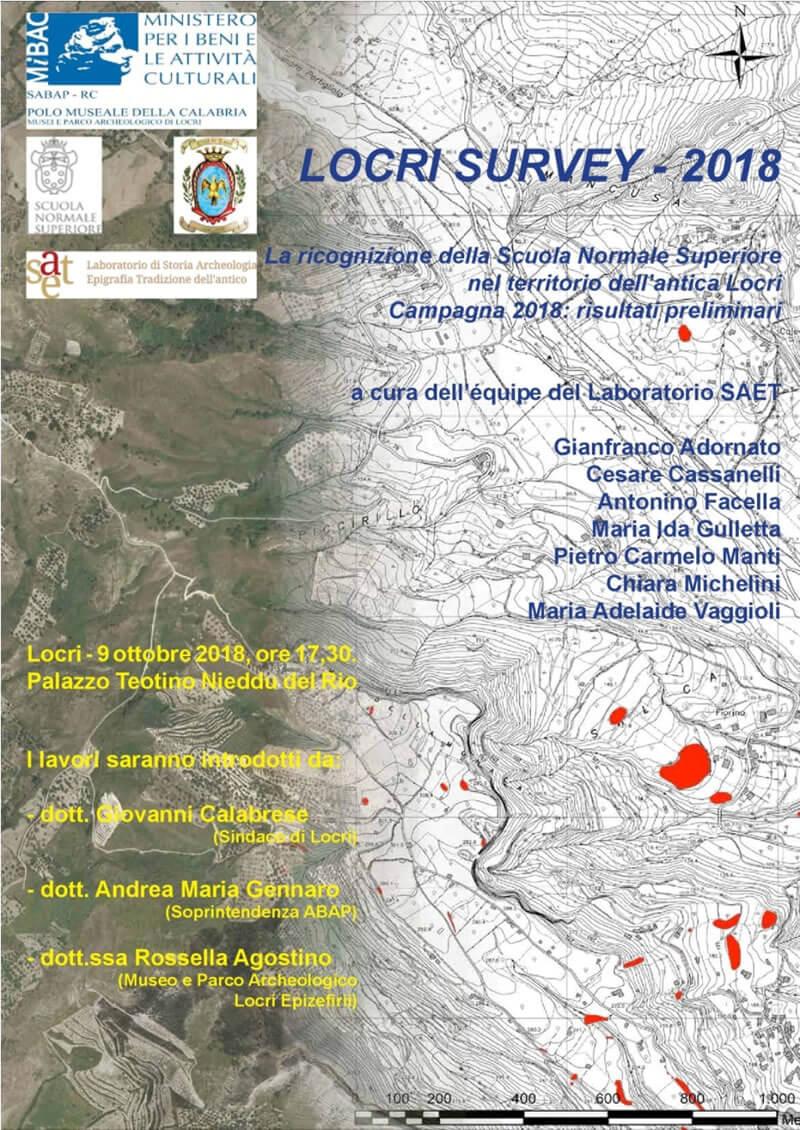 LOCANDINA Locri Survey - 2018