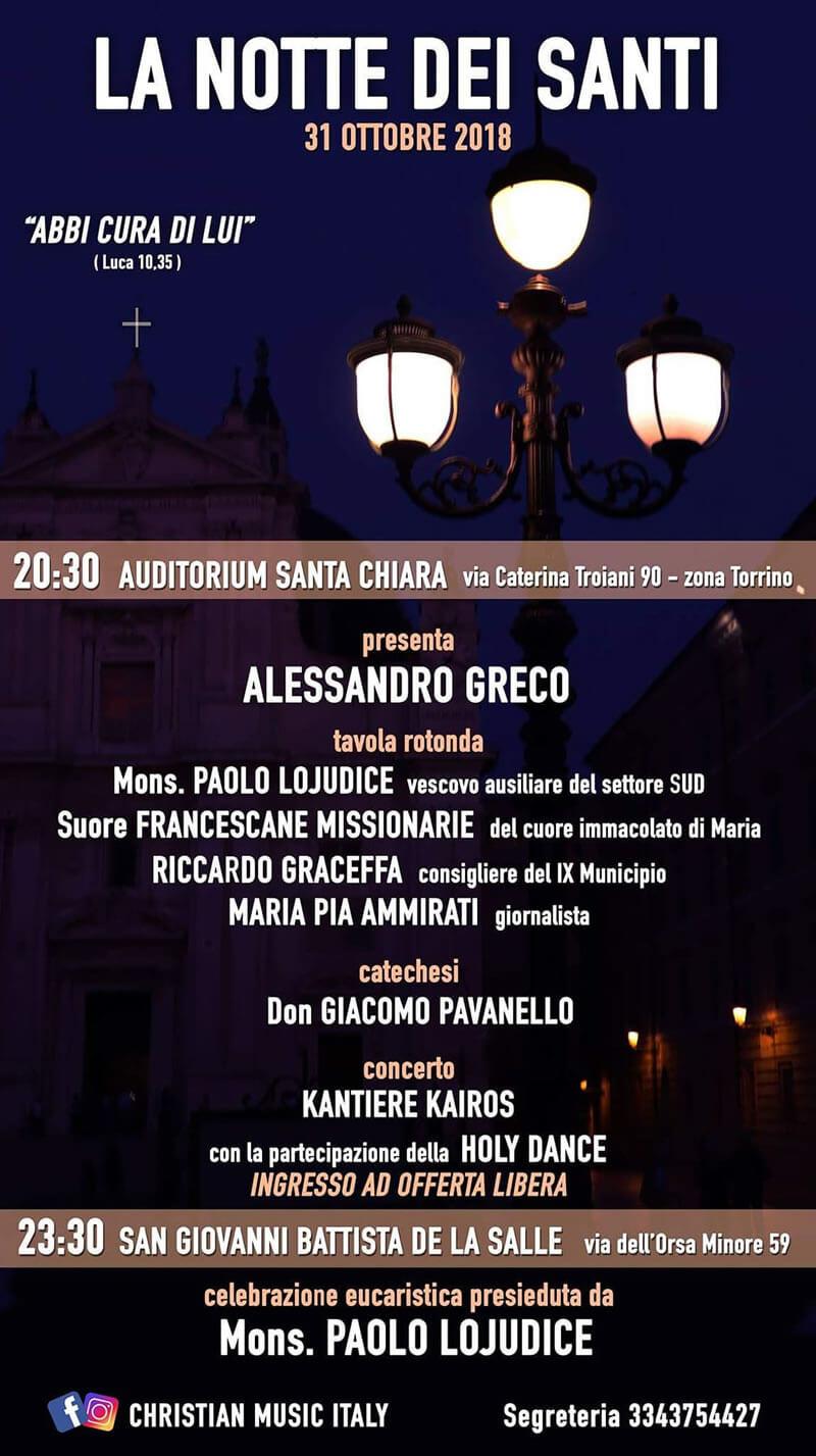Notte dei Santi a Roma con Kantiere Kairòs in concerto 31 ottobre 2018