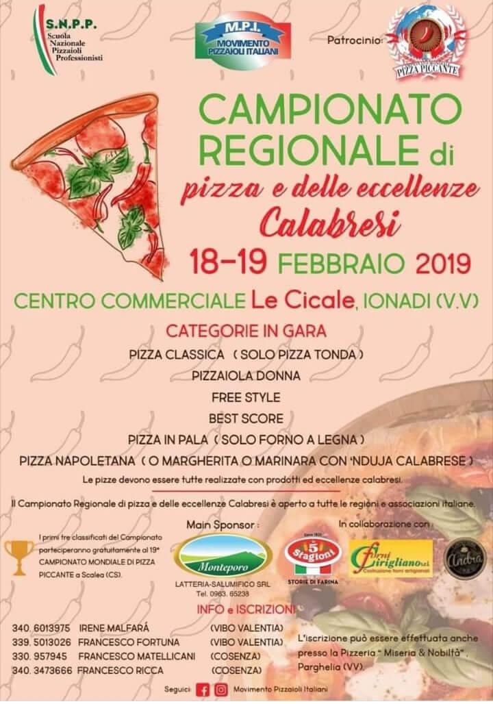 Campionato Regionale di pizza e delle eccellenze Calabresi 18-19 Febbraio 2019, Le Cicale - Ionadi