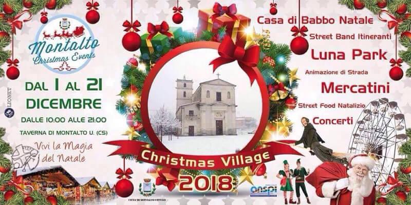 Christmas Village a Taverna di Montalto Uffugo dal 1 al 21 dicembre 2018