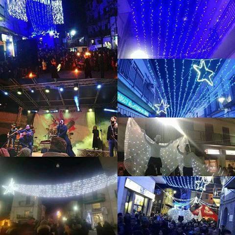 Luzzi la piccola Salerno 8 dicembre 2018 spettacolo di luci e suoni
