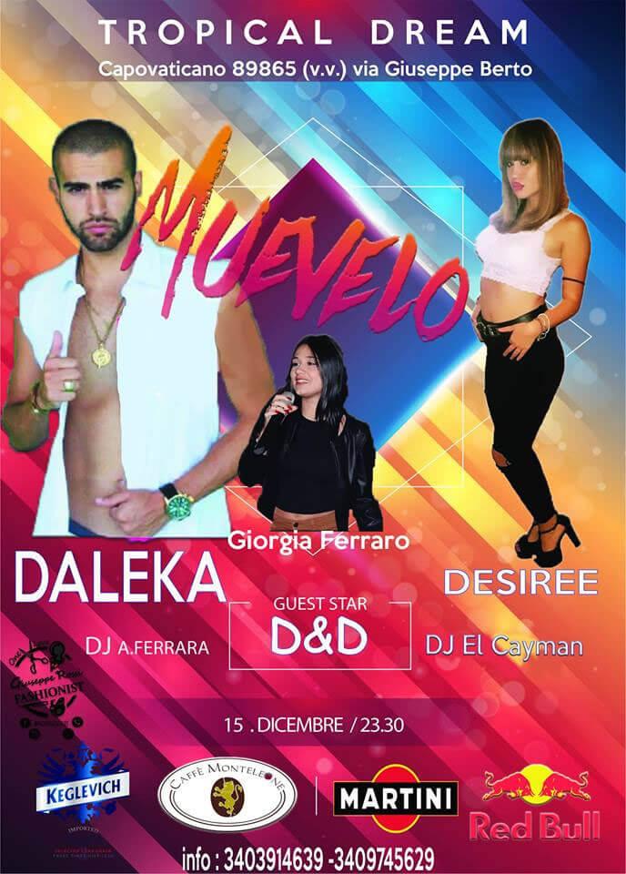 Muevelo al Tropical Dream Disco Club di Ricadi il 15 dicembre 2018 locandina