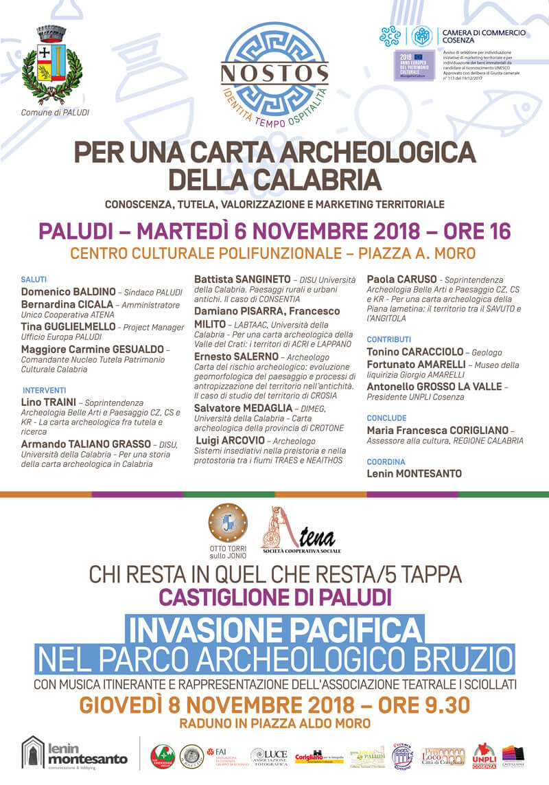 Paludi, invasione pacifica a Castiglione - Siti Archeologici, una carta per la Calabria