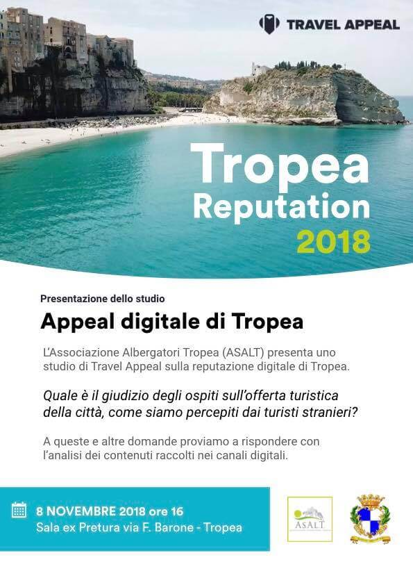 Tropea reputation 2018 - Travel Appeal