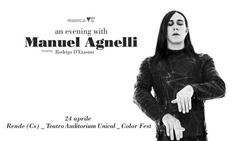 An Evening With Manuel Agnelli, Rende 24 aprile 2019
