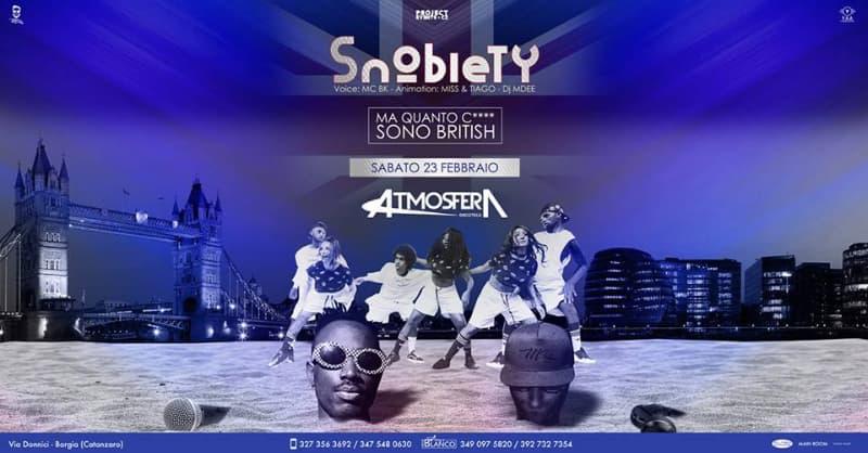 Atmosfera Discoteca SNOBIETY - BRITISH 23 febbraio 2019