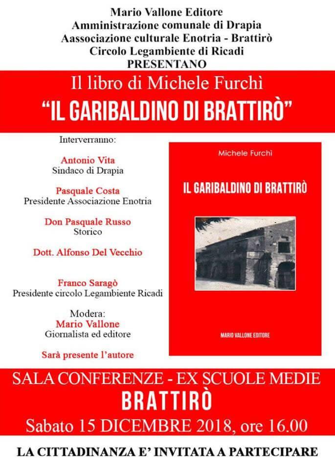 Presentazione libro Il garibaldino di Brattirò 15 dicembre 2018 a Braittirò di Drapia