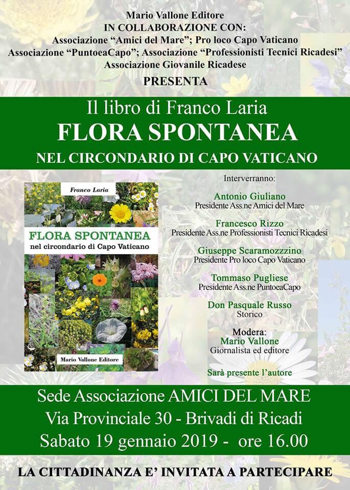 Presentazione libro di Franco Laria Flora spontanea 19 gennaio 2019 Brivadi di Ricadi