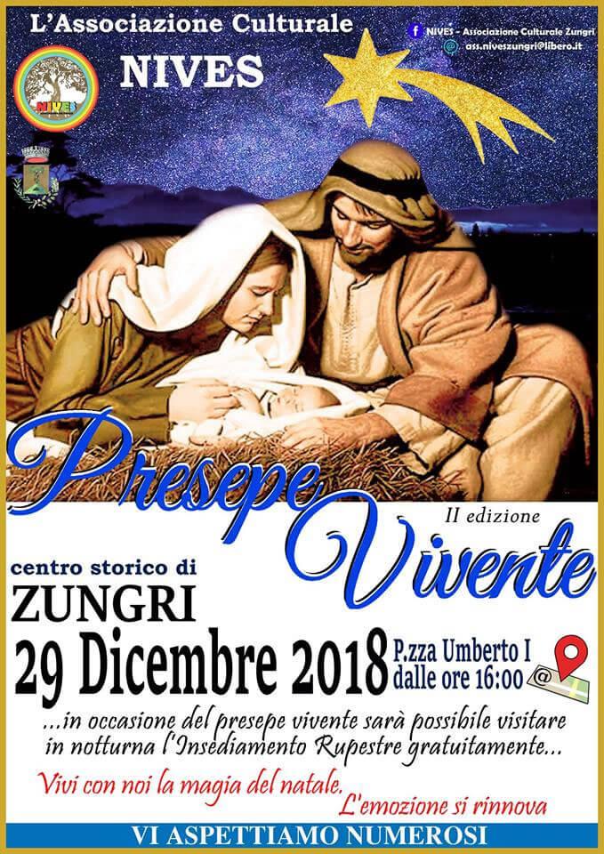 Presepe Vivente 29 dicembre 2018 a Zungri