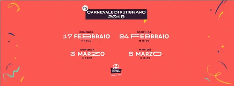Carnevale Di Putignano 17 febbraio al 5 marzo 2019
