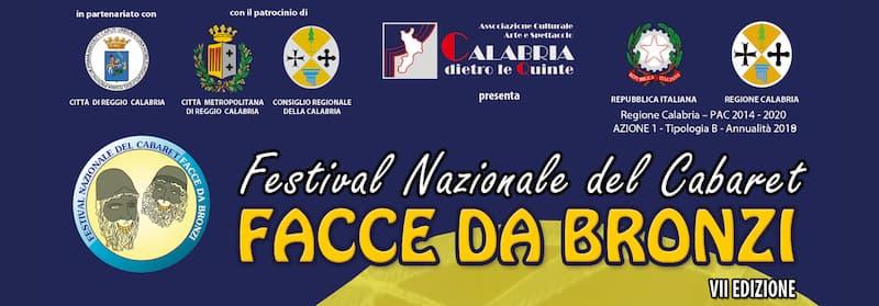 Festival Nazionale del cabaret Facce da bronzi – VII edizione dal 17 luglio al 15 agosto 2019 banner