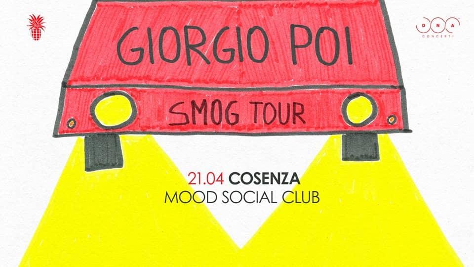 Giorgio Poi in concerto 21 gennaio 2019 a Cosenza