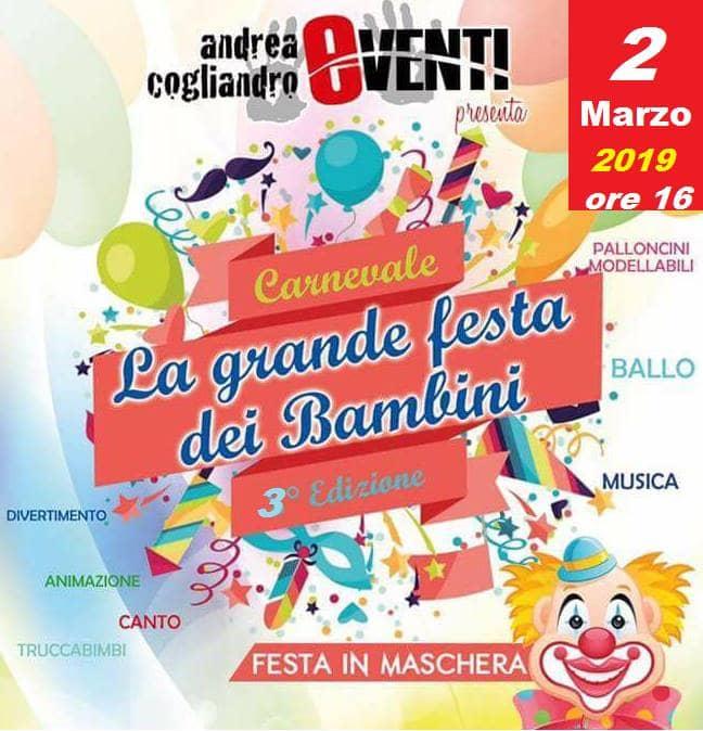 La Grande Festa dei Bambini - Carnevale 2019 2 marzo 2019 a Palmi locandina