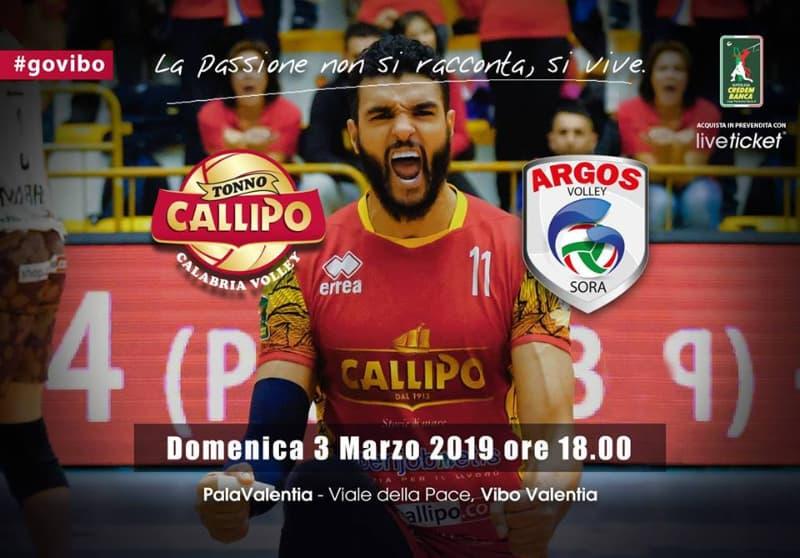 Tonno Callipo Calabria Vibo Val-Globo Banca Pop del Frus Sora 3 marzo 2019