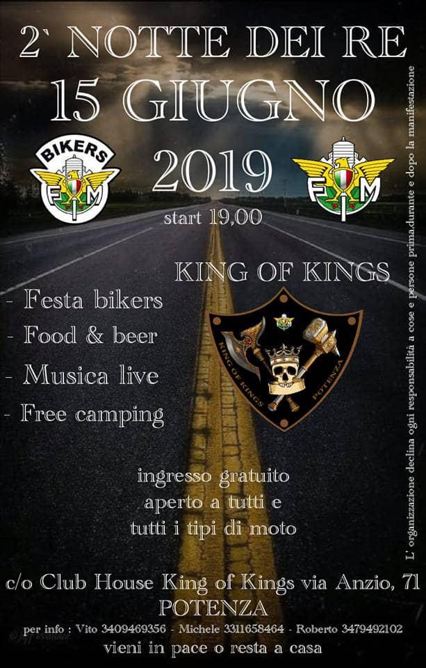 2° Notte Dei Re 15 giugno 2019 a Potenza locandina