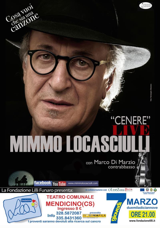 7 marzo 2019 Mimmo Locasciulli al Teatro di Mendicino