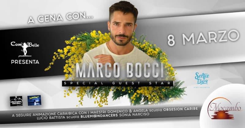 8 Marzo 2019 Festa delle donne Special Guest Marco Bocci a Pizzo Calabro