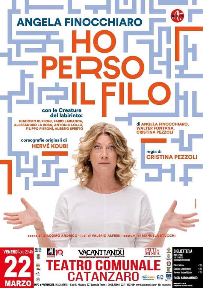 Angela Finocchiaro a Catanzaro 22 aprile 2019