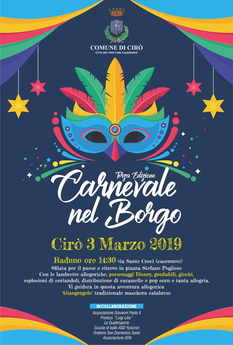 Carnevale nel Borgo 3 marzo 2019 a Cirò