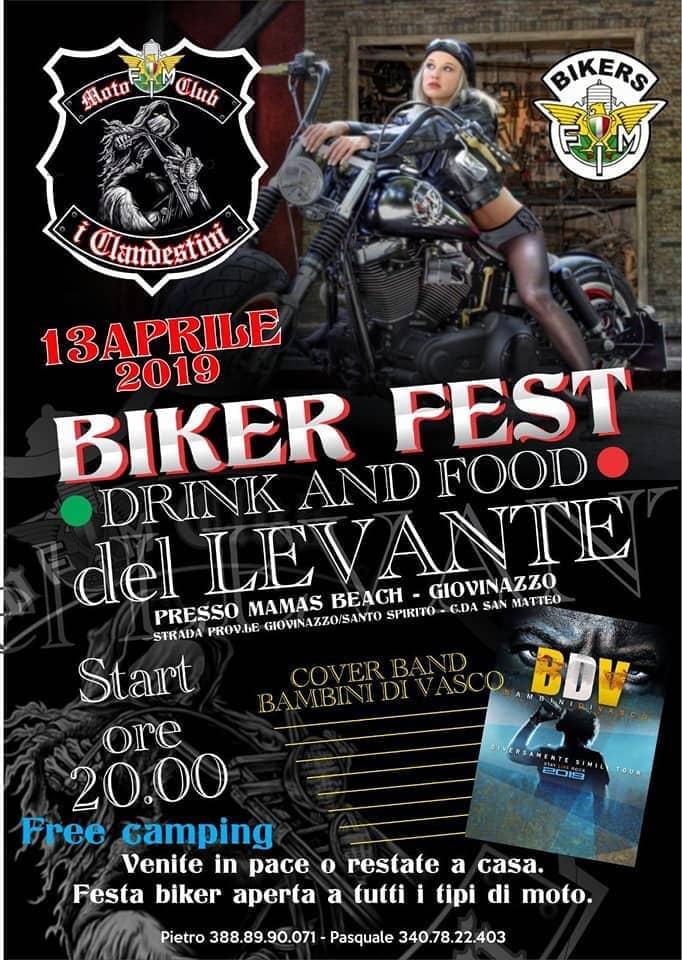 Festa Bikers a Giovinazzo 13 aprile 2019 locandina