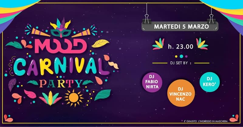 Mood Carnival Party 5 marzo 2019 a Rende