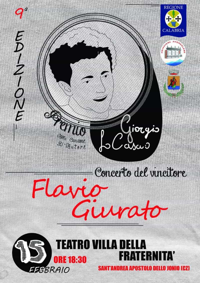 Premio Giorgio Lo Cascio 15 febbraio 2019 Sant'Andrea Apostolo dello Ionio