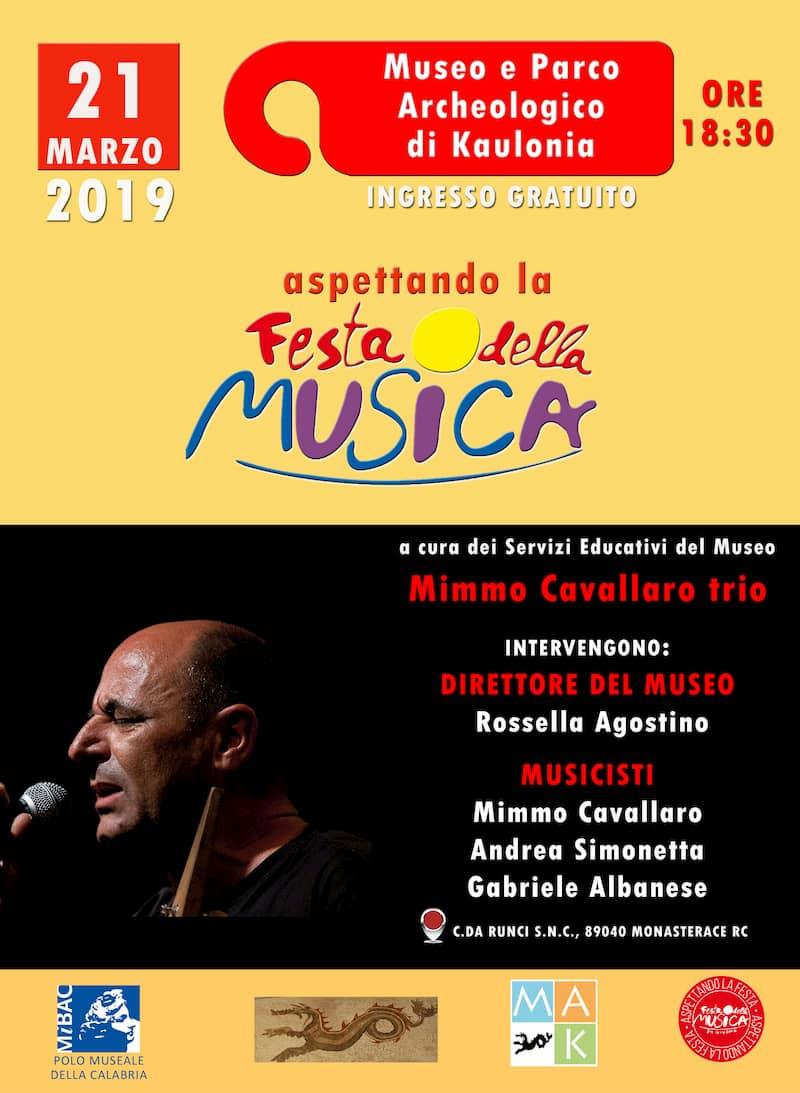 Aspettando la Festa della musica Mimmo Cavallaro trio 21 marzo 2019 locandina
