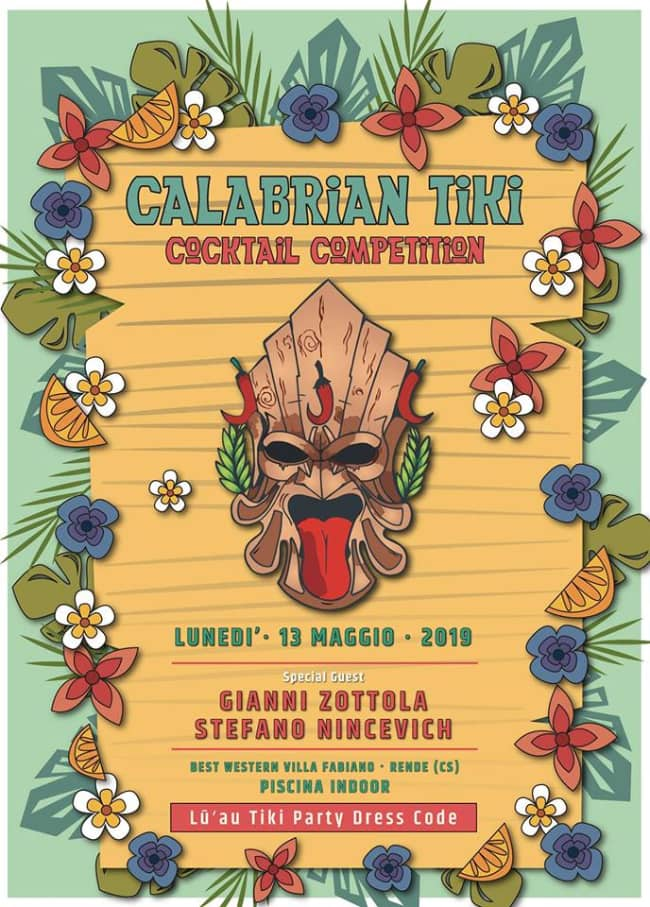 Calabrian Tiki Cocktail Competition 13 maggio 2019 a Rende locandina