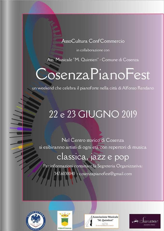 CosenzaPianoFest 22 e 23 Giugno 2019 a Cosenza locandina