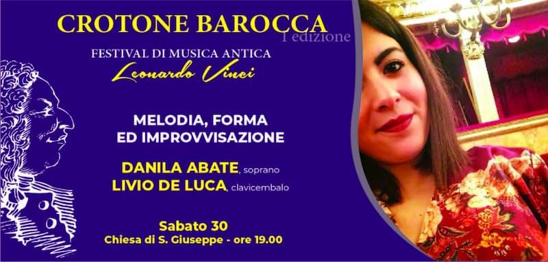 Crotone Barocca con Danila Abate 30 marzo 2019