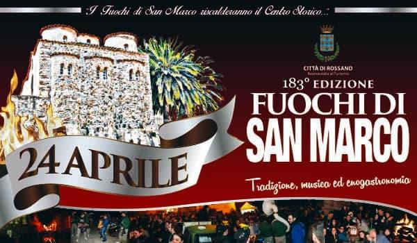 Fuochi di San Marco 183 edizione 24 aprile 2019 a Rossano