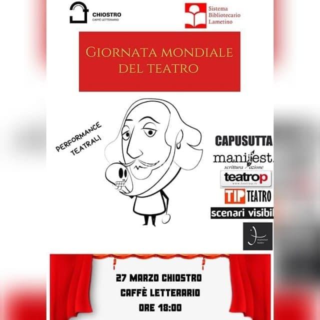 Giornata Mondiale Del Teatro 27 marzo 2019 a Lamezia terme locandina