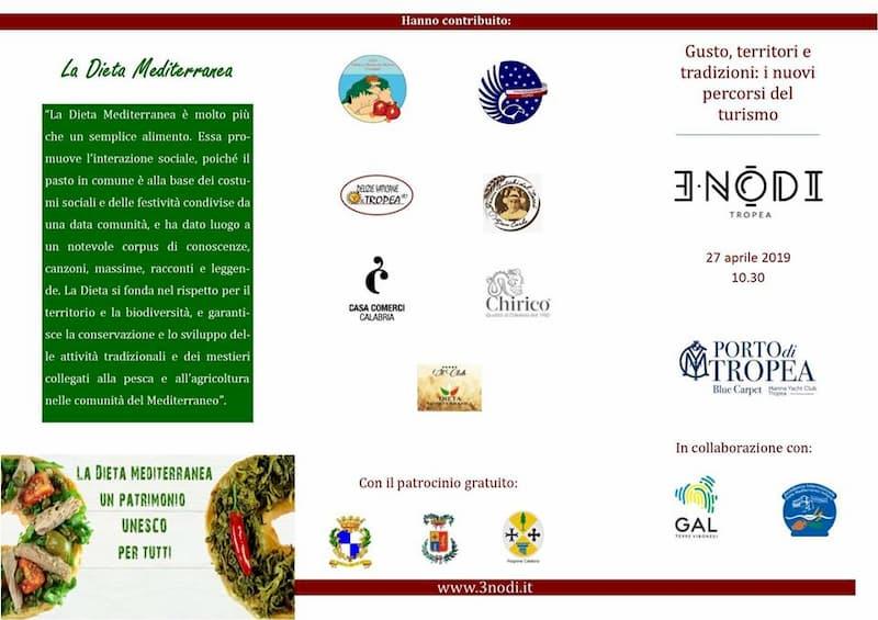 Gusto, territori e tradizioni i nuovi percorsi del turismo, 27 aprile 2019 3 Nodi al Porto di Tropea