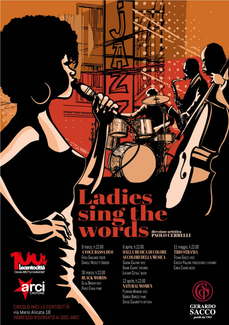 LADIES SING THE WORDS 9 marzo 11 maggio 2019 Crotone