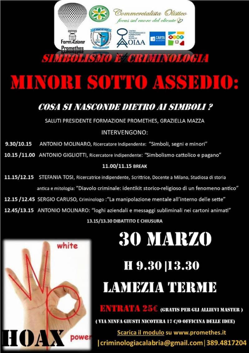MINORI SOTTO ASSEDIO 30 Marzo 2019 a Lamezia Terme