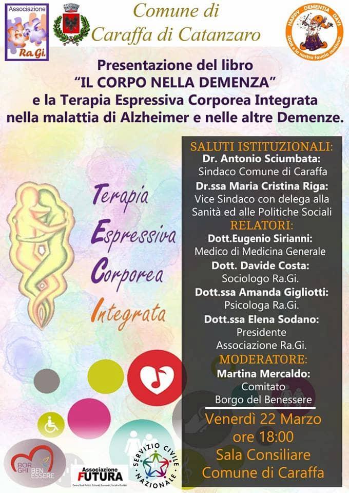 Presentazione del libro Il corpo nella demenza a Caraffa di Catanzaro 22 marzo 2019