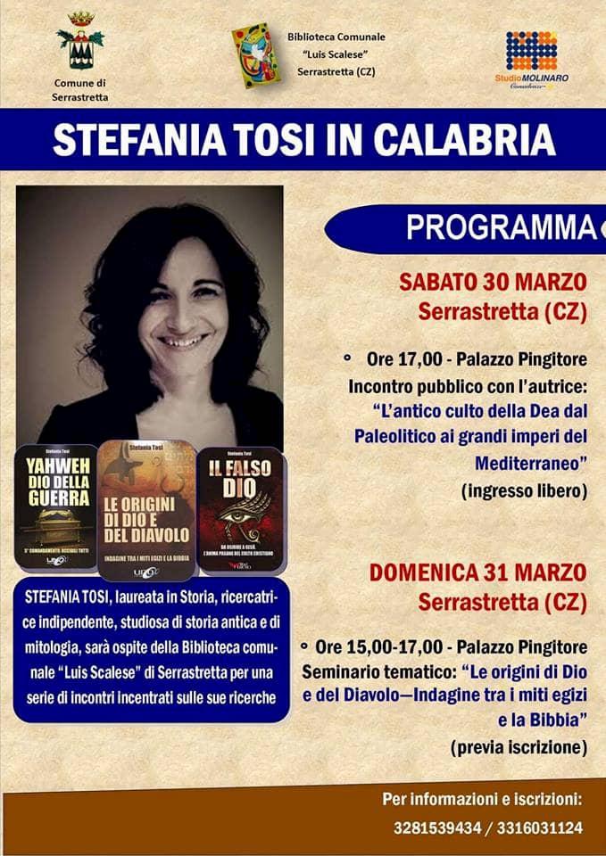STEFANIA TOSI IN CALABRIA 30 marzo 2019 a Serrastretta