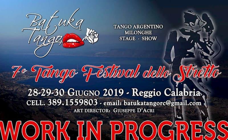 7° TangoFestival dello Stretto 28 29 30 giugno 2019 a Reggio Calabria locandina